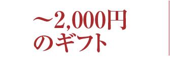 冬ギフト価格2000